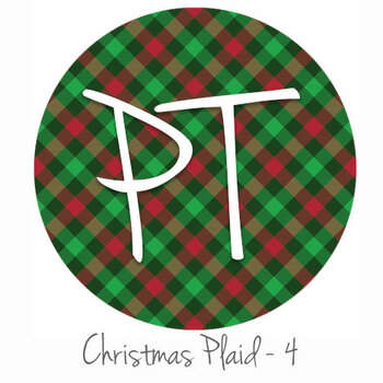 "12""x12"" Permanent Patterned Vinyl - Christmas Plaid #4"