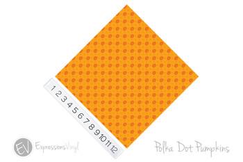 "12""x12"" Permanent Patterned Vinyl - Polka Dot Pumpkins"