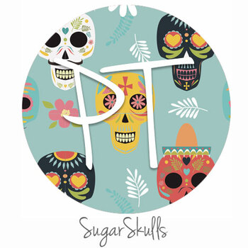 "12""x12"" Permanent Patterned Vinyl - Sugar Skulls"