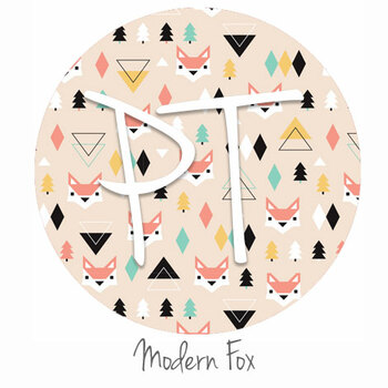 "12""x12"" Permanent Patterned Vinyl - Modern Fox"