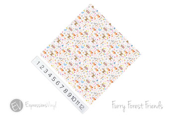 "12""x12"" Permanent Patterned Vinyl - Furry Forest Friends"
