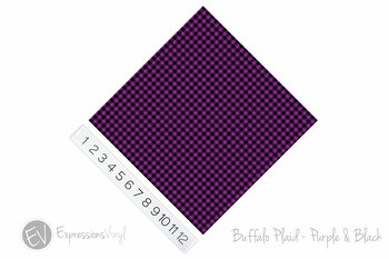 "12""x12"" Permanent Patterned Vinyl - Buffalo Plaid: Purple/Black"
