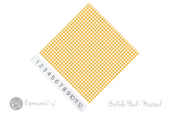"12""x12"" Permanent Patterned Vinyl - Buffalo Plaid: Mustard"