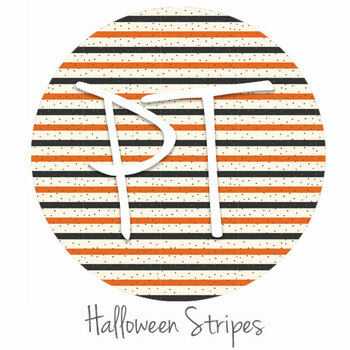 "12""x12"" Patterned Heat Transfer Vinyl - Halloween Stripes"