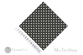 "12""x12"" Patterned Heat Transfer Vinyl - Polka Dot Ghost"