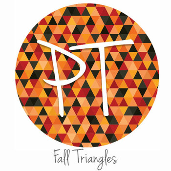 "12""x12"" Patterned Heat Transfer Vinyl - Fall Triangles"