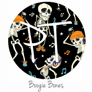 "12""x12"" Patterned Heat Transfer Vinyl - Boogie Bones"