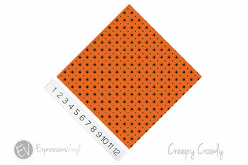 "12""x12"" Patterned Heat Transfer Vinyl - Creepy Crawly"