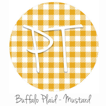 12"x12" Patterned Heat Transfer Vinyl - Buffalo Plaid: Mustard