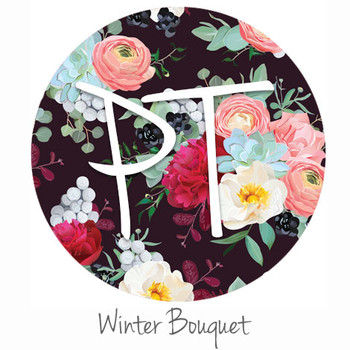 "12""x12"" Patterned Heat Transfer Vinyl - Winter Bouquet"