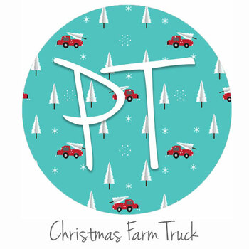 "12""x12"" Patterned Heat Transfer Vinyl - Christmas Farm Truck"