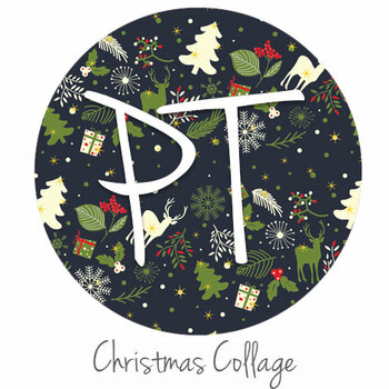 "12""x12"" Patterned Heat Transfer Vinyl - Christmas Collage"