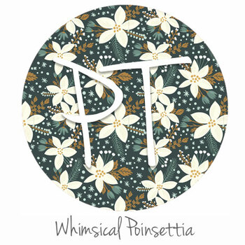 "12""x12"" Patterned Heat Transfer Vinyl - Whimsical Poinsettia"