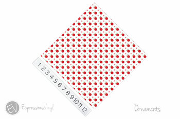 "12""x12"" Patterned Heat Transfer Vinyl - Ornaments"