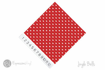 "12""x12"" Patterned Heat Transfer Vinyl - Jingle Bells"