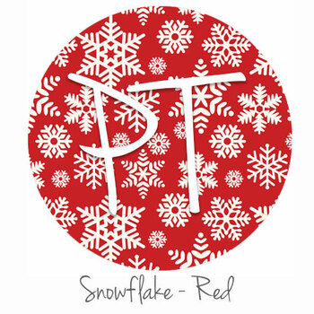 """12""""x12"""" Patterned Heat Transfer Vinyl - Snowflakes - Red"""