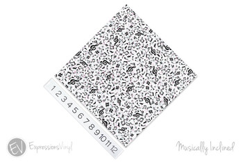 """12""""x12"""" Patterned Heat Transfer Vinyl - Musically Inclined"""