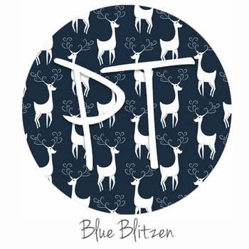 "12""x12"" Patterned Heat Transfer Vinyl - Blue Blitzen"