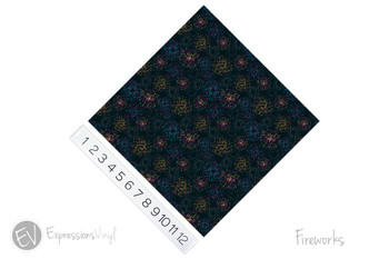 "12""x12"" Patterned Heat Transfer Vinyl - Fireworks"