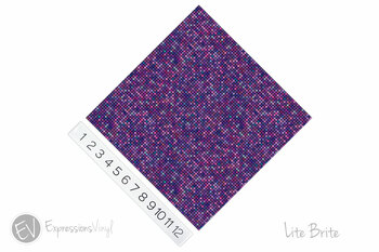 "12""x12"" Patterned Heat Transfer Vinyl - Lite Brite"