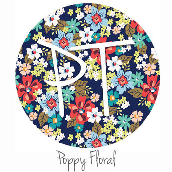"12""x12"" Patterned Heat Transfer Vinyl - Poppy Floral"