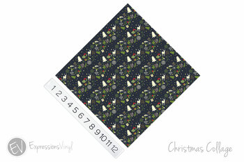 "12""x12"" Permanent Patterned Vinyl - Christmas Collage"