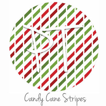"12""x12"" Permanent Patterned Vinyl - Candy Cane Stripes"