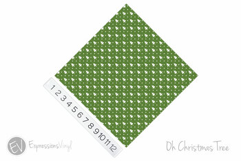 "12""x12"" Permanent Patterned Vinyl - Oh Christmas Tree"