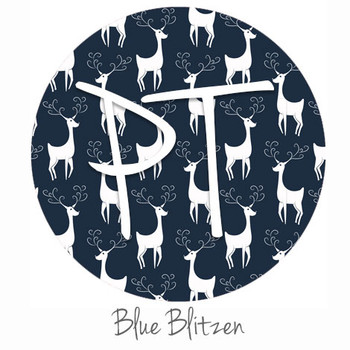 "12""x12"" Permanent Patterned Vinyl - Blue Blitzen"