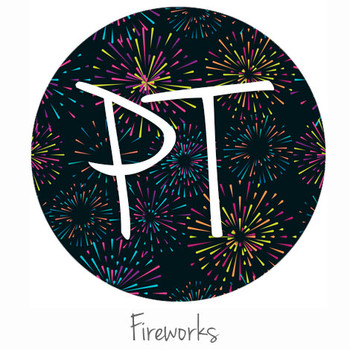 "12""x12"" Permanent Patterned Vinyl - Fireworks"