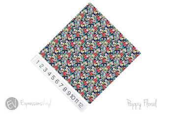 "12""x12"" Permanent Patterned Vinyl - Poppy Floral"