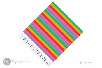 "12""x12"" Permanent Patterned Vinyl - Rainbow"