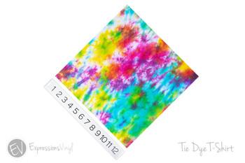 "12""x12"" Permanent Patterned Vinyl - Tie Dye T-Shirt"