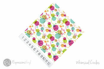 """12""""x12"""" Permanent Patterned Vinyl - Whimsical Circles"""