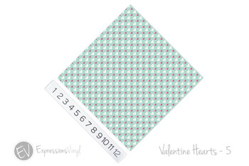 "12""x12"" Permanent Patterned Vinyl - Valentine's Hearts 5"