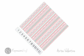 "12""x12"" Permanent Patterned Vinyl - Aztec Valentine"