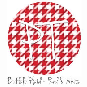 "12""x12"" Permanent Patterned Vinyl - Buffalo Plaid - Red/White"