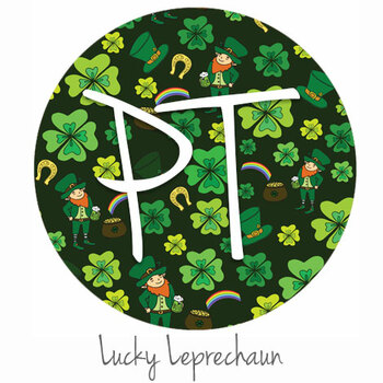 "12""x12"" Patterned Heat Transfer Vinyl - Lucky Leprechaun"
