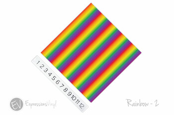"12""x12"" Patterned Heat Transfer Vinyl - Rainbow 2"