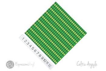 "12""x12"" Patterned Heat Transfer Vinyl - Celtic Argyle"