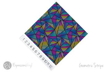 "12""x12"" Patterned Heat Transfer Vinyl - Geometric Stripes"