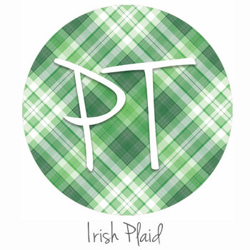 "12""x12"" Patterned Heat Transfer Vinyl - Irish Plaid"