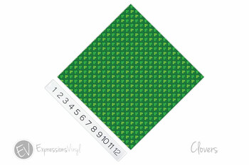 "12""x12"" Patterned Heat Transfer Vinyl - Clovers"
