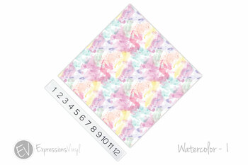 "12""x12"" Patterned Heat Transfer Vinyl - Watercolor 1"