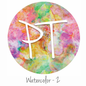 "12""x12"" Patterned Heat Transfer Vinyl - Watercolor 2"