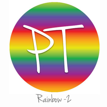 "12""x12"" Permanent Patterned Vinyl - Rainbow 2"