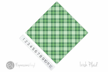 "12""x12"" Permanent Patterned Vinyl - Irish Plaid"