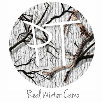 Permanent Patterned Vinyl - Real Winter Camo Swatch