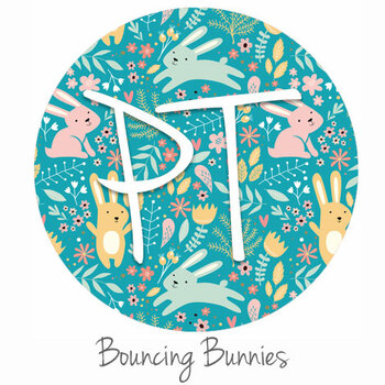 "12""x12"" Permanent Patterned Vinyl - Bouncing Bunnies"