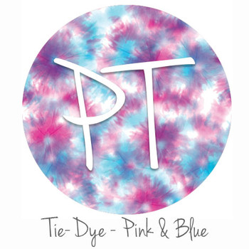 "12""x12"" Permanent Patterned Vinyl - Tie Dye - Pink & Blue"